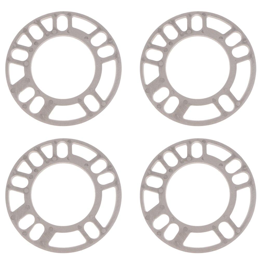 4x Universal Aluminum Wheel Spacers Kit 5mm Thick 75mm ID 135mm OD