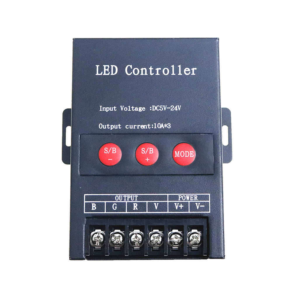 30A LED RGB controller DC5-24V 3*10A for 5050 3528 RGB LED Strip Power Repeater Console Controller Exposed Light Module 360W dc12v 24v led rgb rgbw amplifier aluminum 24a 3ch 4ch led controller for 5050 3528 led strip light tape power repeater console