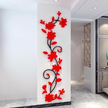Flower Vine Wall Stickers Home Decor Large Paper Flowers Living Room Bedroom Wall Decor Sticker on The Wallpaper Diy Home Decals 9