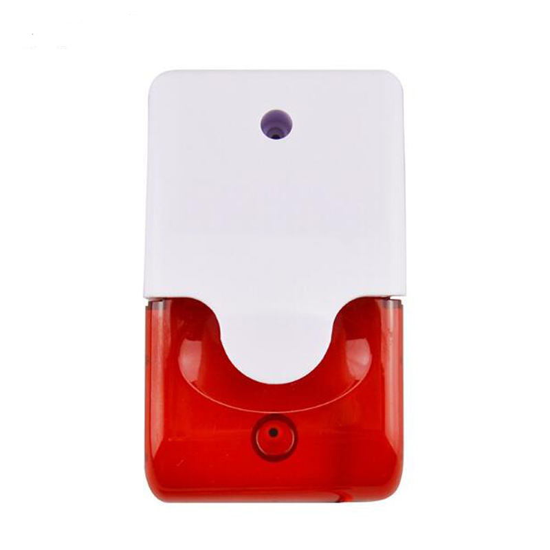 110dB Volume Wired Strobe Flash Alarm Siren Horn 12VDC Red Light For Alarm System Security Product