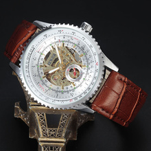SEWOR Automatic Mechanical Skeleton Watch Mens Watches Vintage Steampunk Luxury Leather Man dress Wristwatch Business Clock