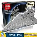 3250 шт. Новый Star Wars вселенная 05027 Star Destroyer DIY Модель Строительные Блоки Большие Подарки Игрушки Совместимость с Lego