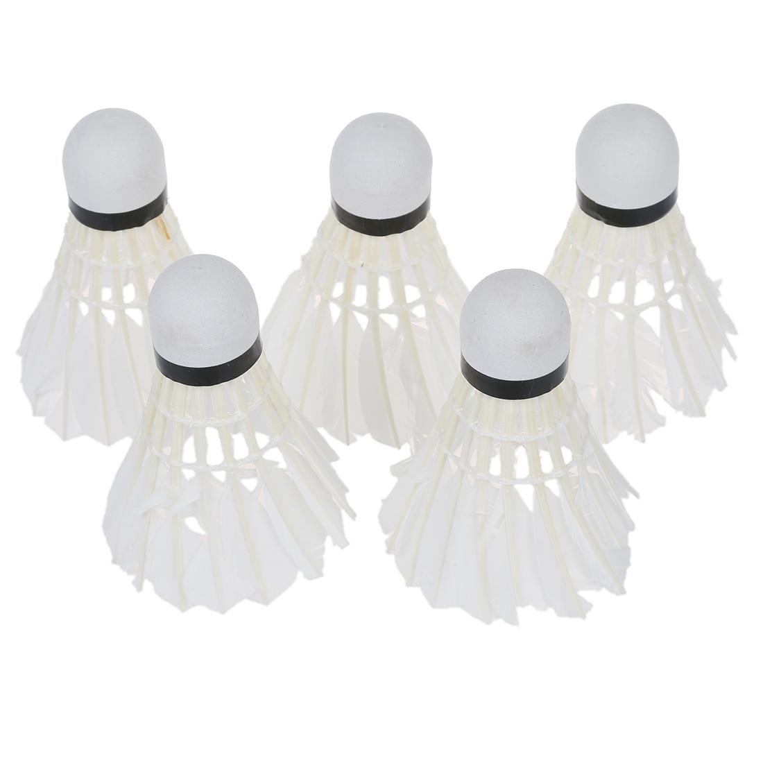 5*Dark Night LED Badminton Shuttlecock Birdies Lighting Green