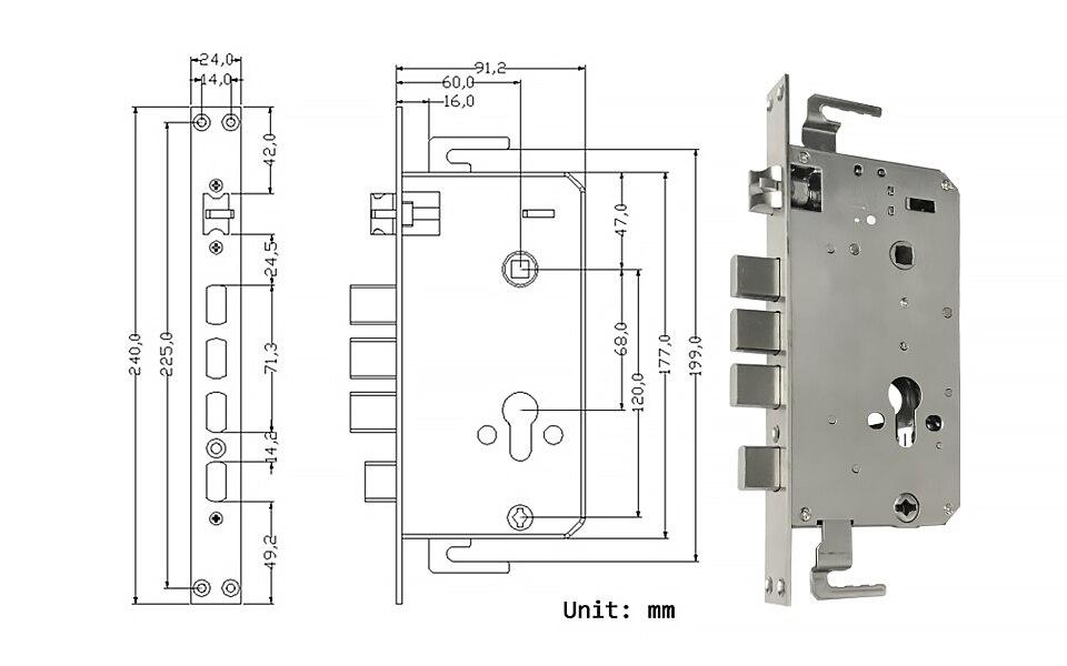 Pineworld биометрический смарт замок с отпечатком пальца электронный
