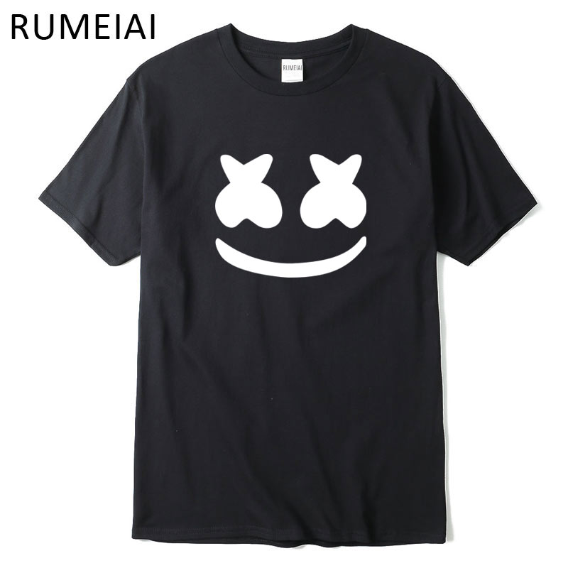 RUMEIAI 2017 New brand marshmello face men short sleeve boy s