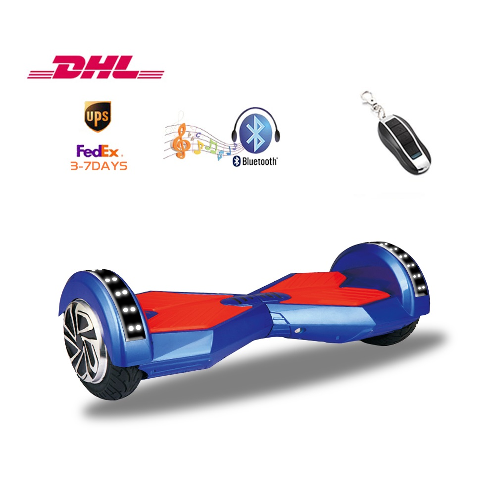 UL2272 8 inch wheels Hoverboard Smart self balancing electric LED scooter Bluetooth music function hover board 3-8 days delivery hot sale 4 5 inch electric self balancing scooter hoverboard smart wheels smart scooters balancing board for kid n5 1