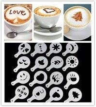 Cappuccino Coffee Barista Stencils 16Pcs
