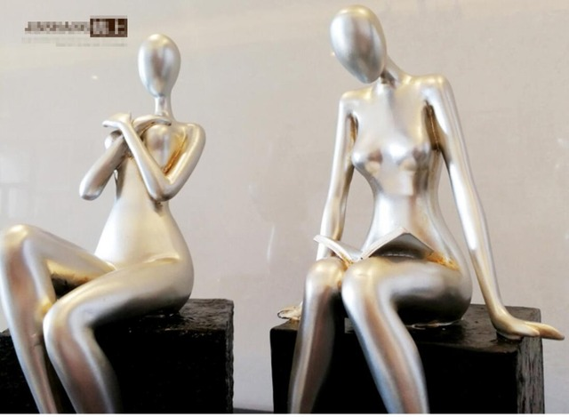 Nordic modern abstract figure beauty statue, resin sculpture, creative decoration, home decoration accessories, handicrafts gift