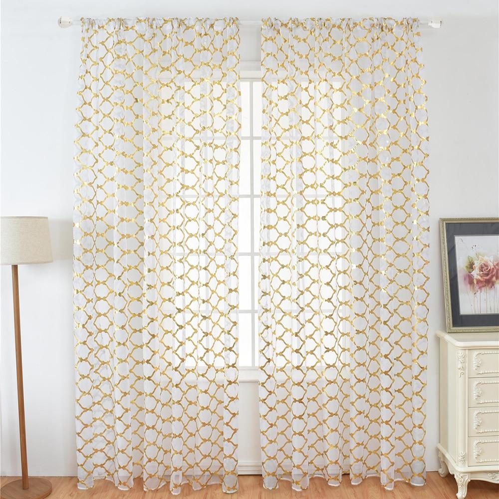 40 X79 Sheer Curtains Lantern Print
