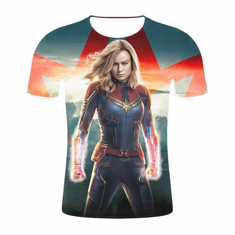 2019 летняя новая мужская футболка с 3d принтом капитан Мужская фильм Marvel крутая футболка с коротким рукавом и круглым вырезом Повседневная стильная модная одежда