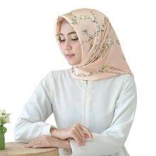 Женский атласный шарф с принтом Элегантный квадратный из смеси