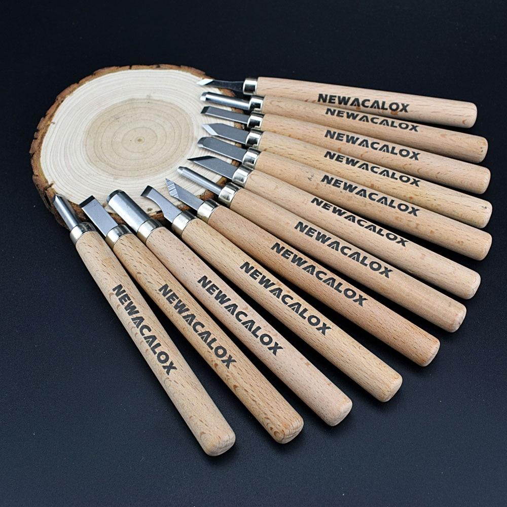 NEWACALOX 12 sztuk Nóż Drzeworyt Scorper Narzędzie do Rzeźbienia - Zestawy narzędzi - Zdjęcie 5