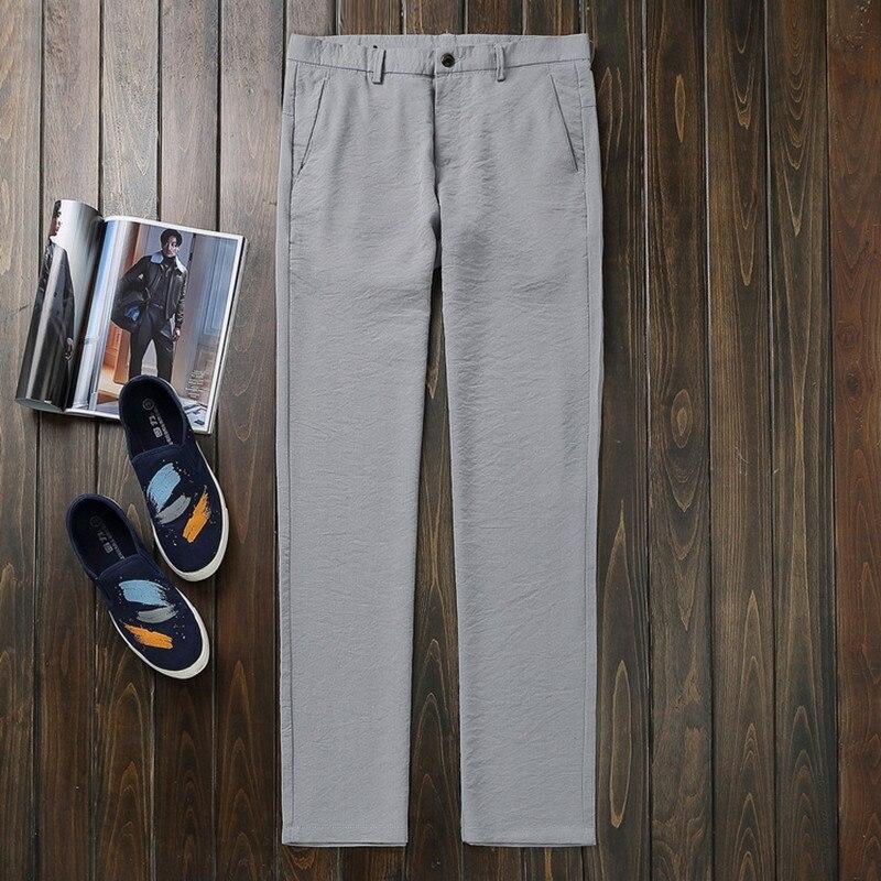 Mens Spring Cargo Non-ironing Straight Pants Hombres Cotton Metn - Ropa de hombre