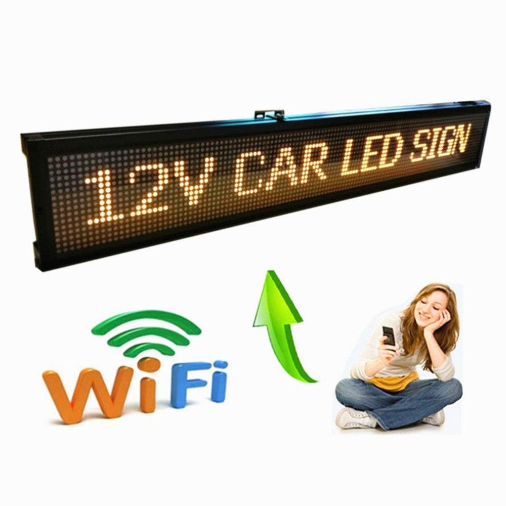 125cm 12V 24V 110-220v AU EU US Popular WIFI Programmable Bus LED Sign / Car advertising  sign/factory Production display board
