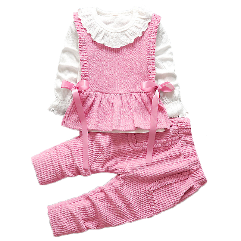 2019 Baby Girls Clothes Sets Children Clothing Toddler Girl Tracksuits Sport Suit Kids T-shirt +Vest Pullover And Pants Set 3Pcs 1