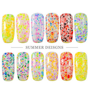 1pcs Sugar Color Mixed Shiny Nail Art Glitter Powder Dust Neon Snowflakes Design Nail Pigment Decoration Manicure JIXH01-12