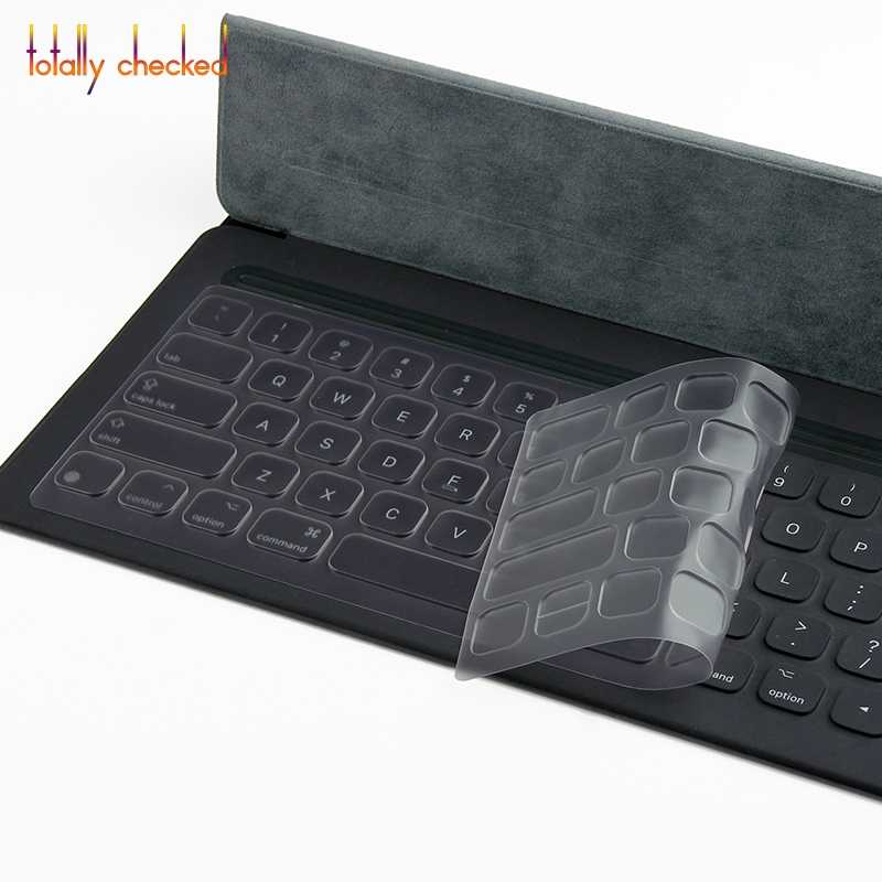 For iPad Pro 12 9'' - Smart Keyboard For ipad pro 2 12 9 inch Silicone  keyboard cover protectot Clear TPU Keyboard Cover Skin