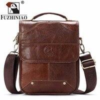 FUZHINIAO New 2018 Fashion Men Bags Men Casual Genuine Leather Messenger Bag High Quality Man Brand Business Small Men's Handbag