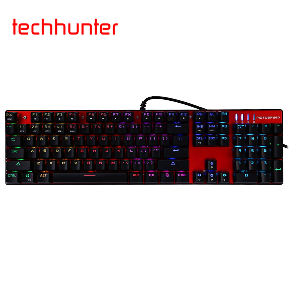 ФОТО 100% Original Full Key Unlimited Motospeed Inflictor CK104 Mechanical Keyboard with Switch Backlight and Anti Ghosting Function