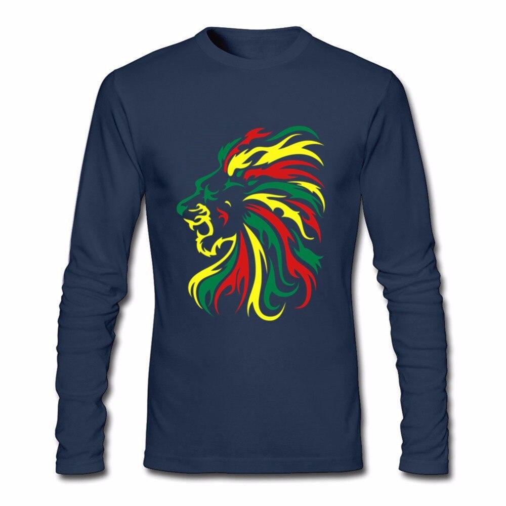 Men's Full T Shirt Reggae Lion Tribal New Coming T Shirts Linkin Park Designer Hombre 100% Cotton Free Shipping Tee Shirt