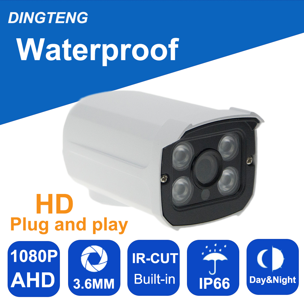 AHD Camera 720P 960P 1080P HD Surveillance Outdoor IR Night vision Bullet Cam 2MP CCTV Security Camera with Free Power Supply 2A full hd cctv camera 1080p outdoor security camera 2mp ahd bullet camera 960p 720p ultral low illumination