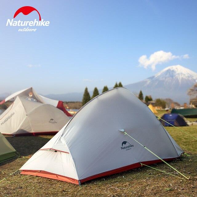 Nature randonnée nuage jusqu'à 1 2 3 personnes Camping tente extérieur Camp 20D Nylon ultra-léger tente hiver Camping tente avec tapis