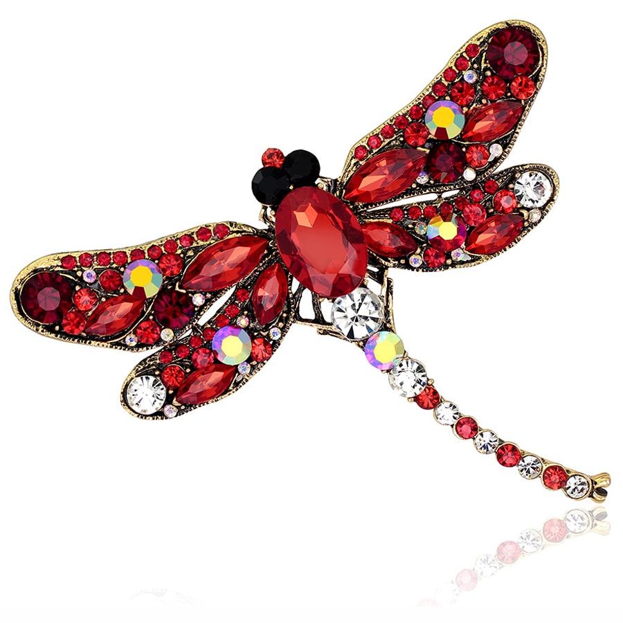 Charm Rhinestone Brooch Dragonfly Scarf Pins Lovely ...