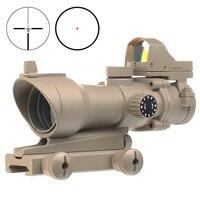 AIM Охота прицел Airsoft ACOG 4X32 Красный точка зрения мини Reddot оптический Тактический пневматическое оружие областей AO5320