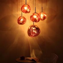 Jaxlong Modern Melt Pendant Lights Plated Glass Nordic Lava Lamp Irregular Decorative luminaries for Living Room Bedroom