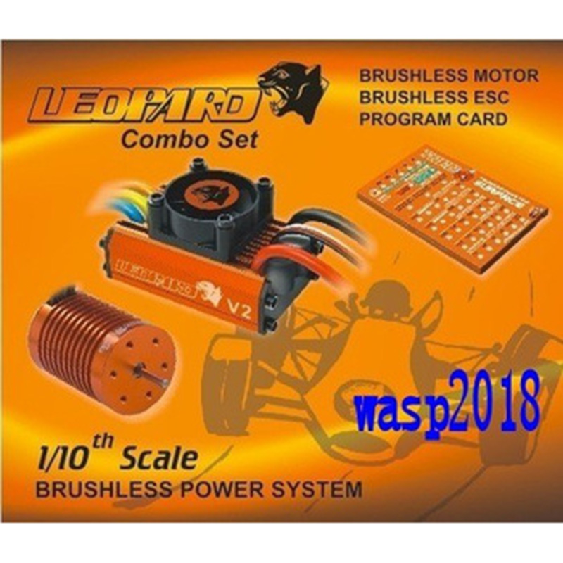 SKYRC LEOPARD 60A ESC + Brushless Motor 9T 4370KV 1/10 Car Combo with program card for car boat free shipping feike da skyrc toro 8s 150a model car brushless esc electronic speed control