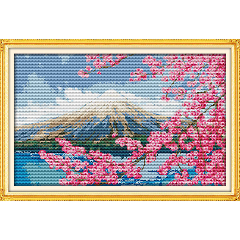 Everlasting love Mount Fuji Chinese cross stitch kits Ecological cotton 11 14CT stamped DIY Christmas decorations for home gift