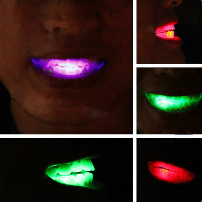 Halloween Christmas Party Flashing LED Teeth Light Vampire Party Halloween Rave Bar Gift Decoration Cosplay Costume Prop
