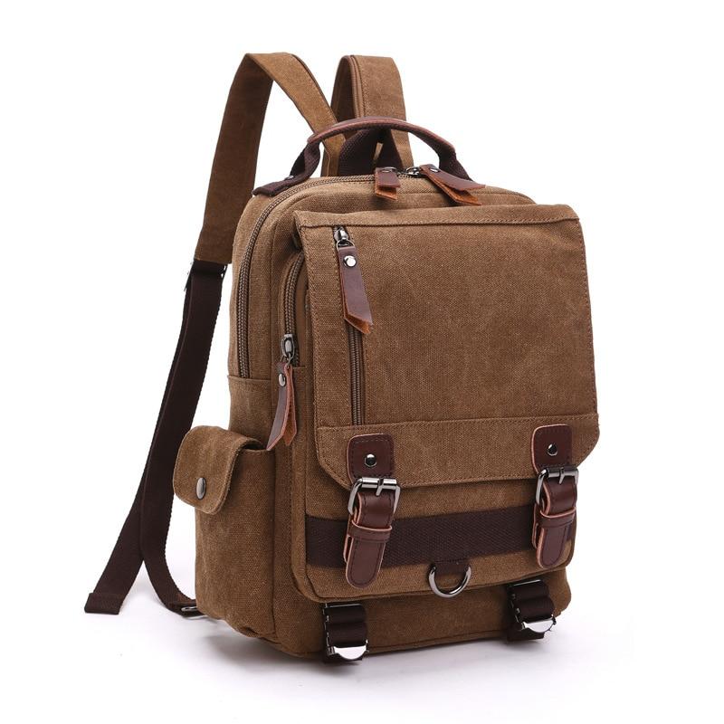 Canvas Cross-Body Chest Bag Unisex Single One Shoulder Bag And Double Shoulder Bag Portable Outdoor Travel Fashion Storage Bag