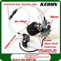 Мощность струи ускорительный насос KEIHIN 30 мм PZ30 карбюратор Visiable прозрачный дросселя довольствоваться двойной кабель ирбис воздушный фильтр