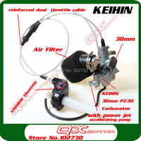 KEIHIN 30mm PZ30 Carburetor Power Jet Accelerating Pump Visiable Transperent Throttle Settle Dual Cable IRBIS