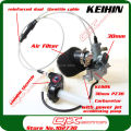Power Jet Accelerating Pump KEIHIN 30mm PZ30 Carburetor Visiable Transparent Throttle Settle  Dual Cable IRBIS Air Filter