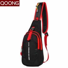 QOONG Fashion Men Women Bag Loves' Crossbody Bag Leisure Waterproof Chest Waist Pack Couple Fashion Shoulder Fanny Bags Pouch