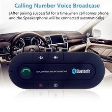 Auto Bluetooth 4,1 Multipoint-freisprecheinrichtung Car Kit Sonnenblende Clip Drahtlose Empfänger Auto Stereo Mp3 Playe