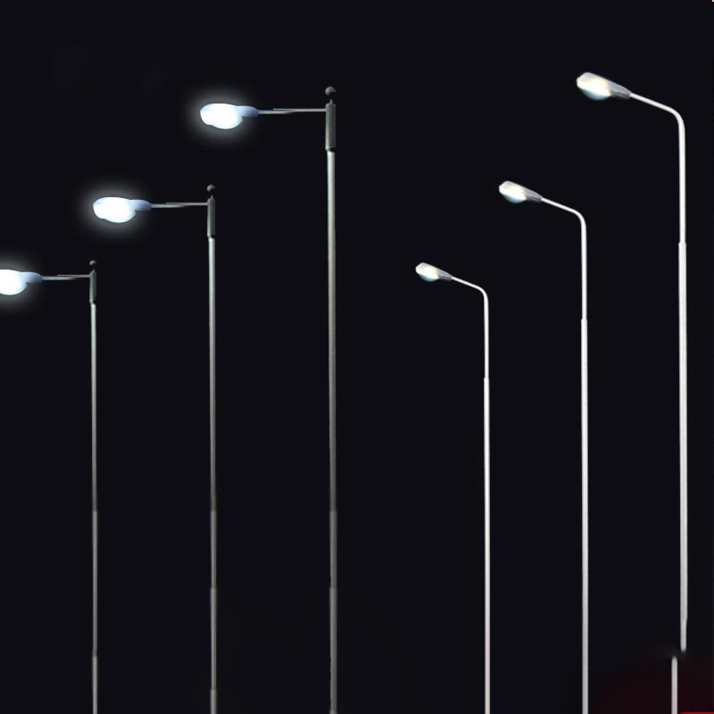 20pcs 14cm Model Railway Train Lamp Post Street LED Lights HO Scale 1:75 LED 3V 20mA