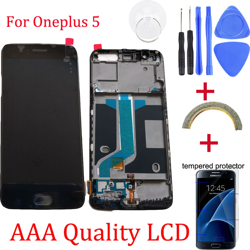 Original For Oneplus 5 Replacement LCD Display Touch Screen Digitizer assembly replacement for oneplus 5 Free