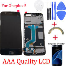 Original For Oneplus 5 Replacement LCD Display+Touch Screen Digitizer assembly replacement for oneplus 5+ Free Tools Repair kit(China)