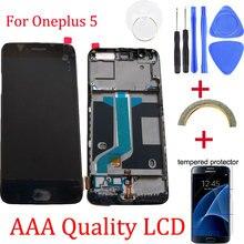 Originele Voor oneplus 5 Vervanging Lcd scherm + Touch Screen Digitizer vergadering vervanging voor oneplus 5 + Gratis Tools Reparatie kit