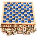 Kid Early Educational Toys Baby Wooden Mathematics Puzzle Digit Learning Education Child Wood Jigsaw Toy Number 1 to 100
