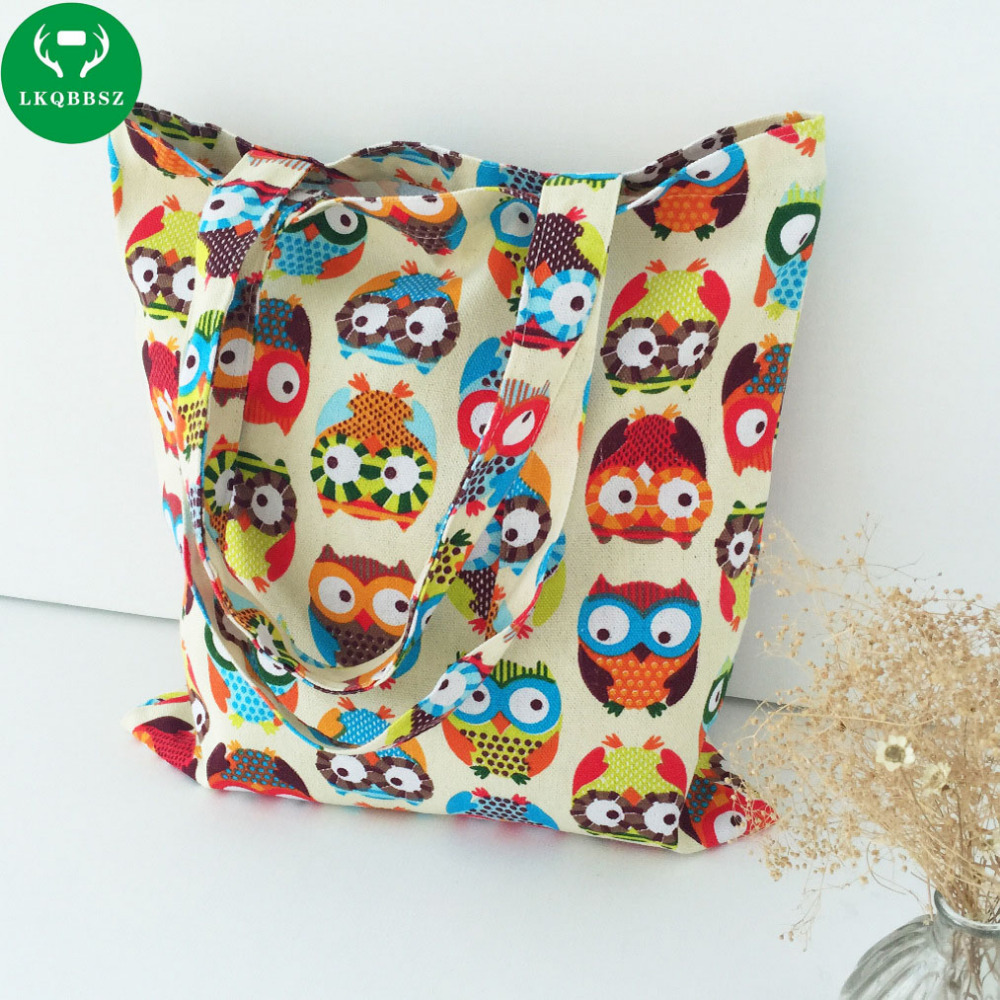 Owl Pattern Women Handmade Toy Storage bag Tote Bags Handmade Original Fresh Cute Admission Package Storage Bags