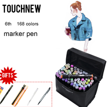 TOUCHNEW 168 Color Drawing Markers Double Headed Alcohol Markers For Architecture Design Painting Art Supplies