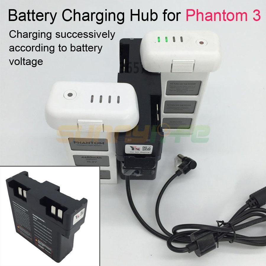 Batterie Lade Hub Battery Manager 26,3 V Ladegerät Adapter Parallel für DJI Phantom 3