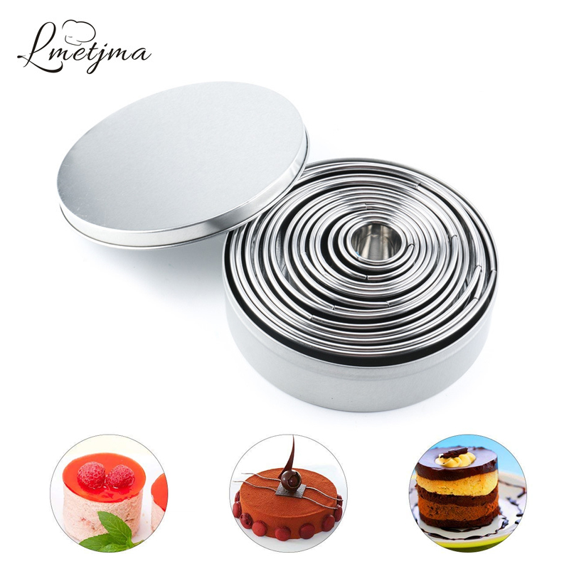 Round Cookie biscuit Cutter Set 3 Cercle à pâtisserie Donut Cutter Mold OO