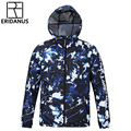 2016 Spring Autumn New Arrival Male Casual Windbreaker Men Hooded Jacket Thin Waterproof Fashion Printed Zipper Coat M373