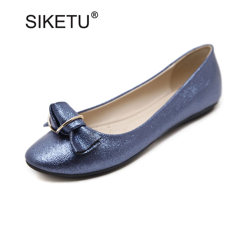 Fashion Women Slip-on Casual Flats Elegant Bow Shallow Mouth Ballerinas For Women New Ladies Soft Flats Size 35-41 Flats Woman new fashion luxury women flats buckle shallow slip on soft cow genuine leather comfortable ladies brand casual shoes size 35 41