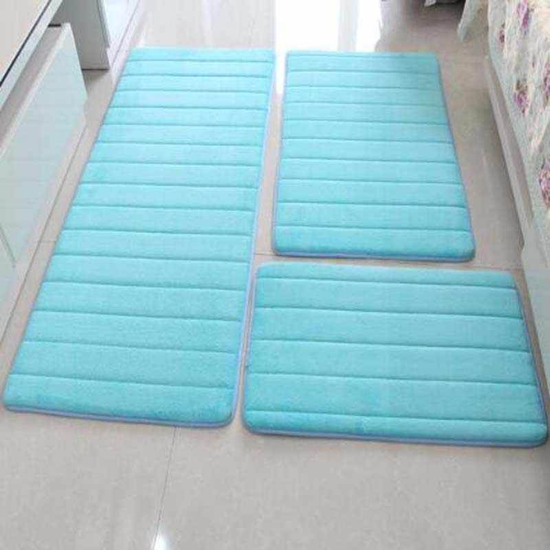 3 шт./компл. Memory Foam входной дверной коврик нескользящий для ванной комнаты напольный коврик ковер для гостиной кухонные коврики и ковры Туалет Tapete Alfombr